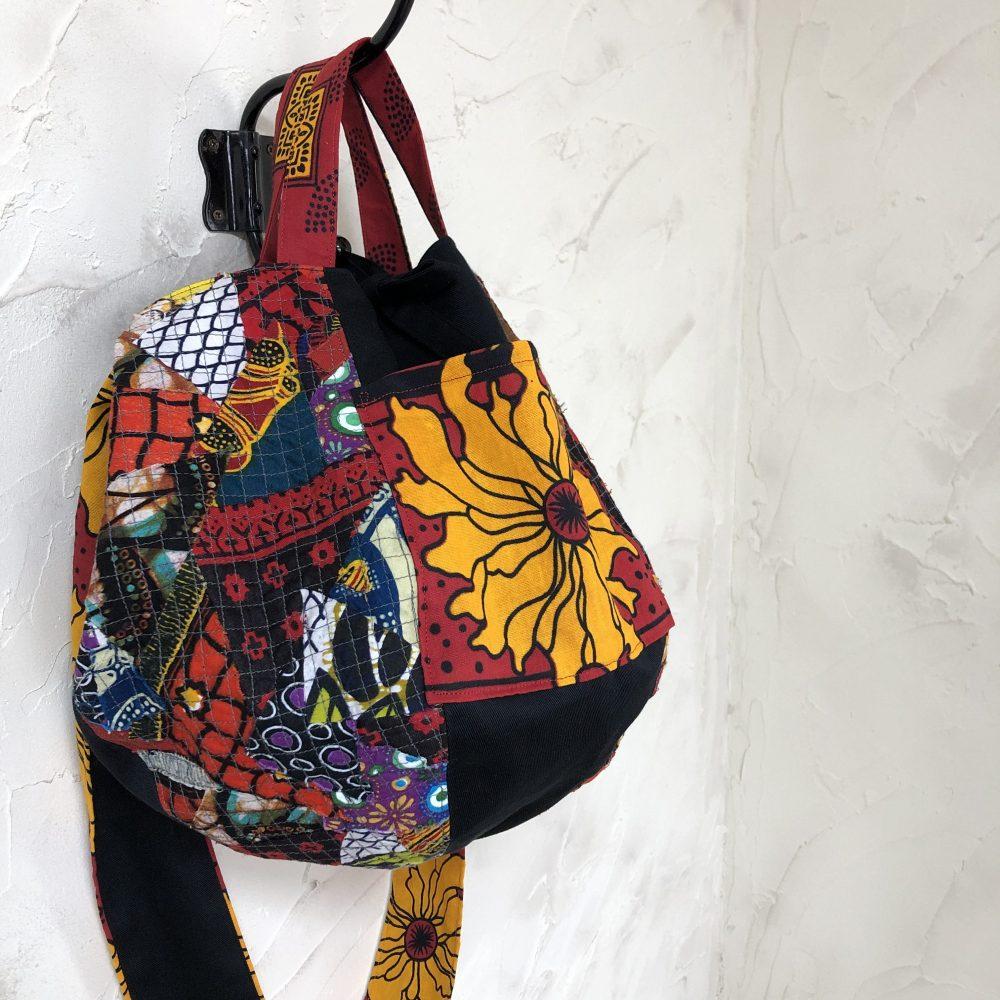 きびるアクション|アフリカンプリントをつかったバッグ